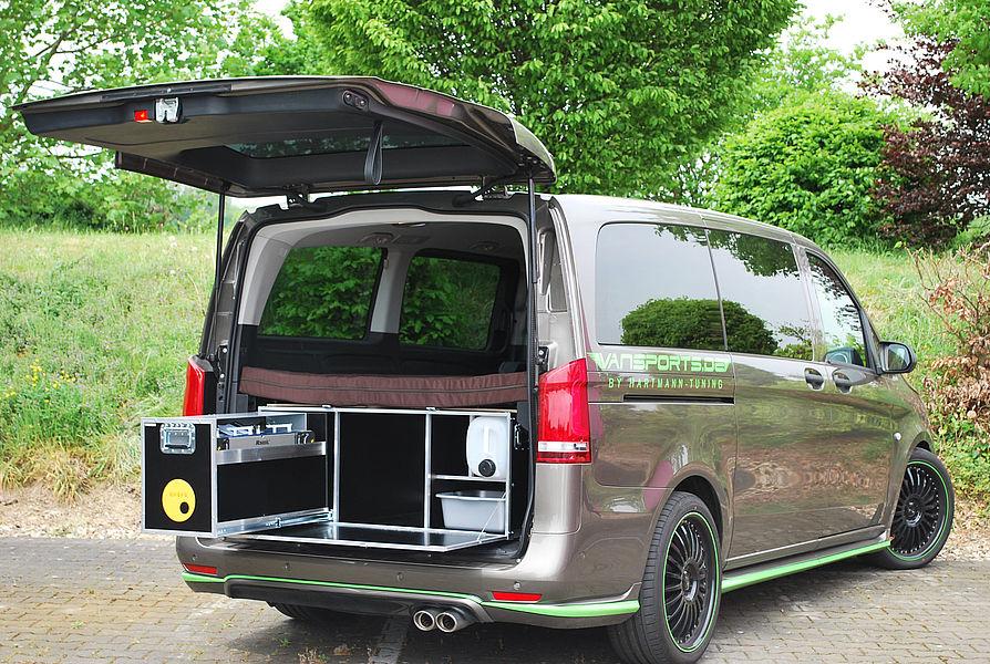 das camping modul f r mercedes vans. Black Bedroom Furniture Sets. Home Design Ideas