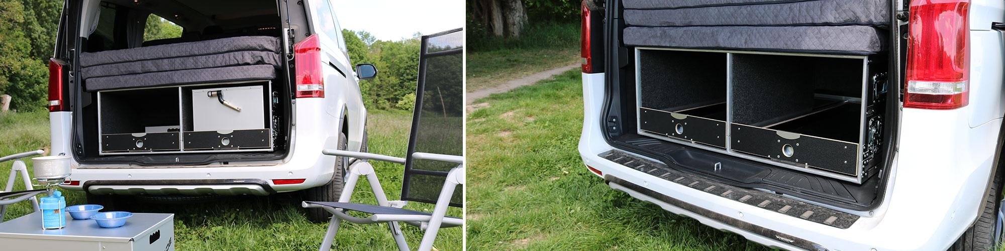 Die Grundbox für das Camping aus 2 Ansichten