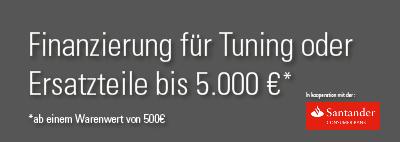 Finanzierung für Tuning oder Ersatzteile bis 5000€