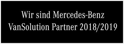 Wir sind Mercedes Benz VanSolution Partner 2018/2019